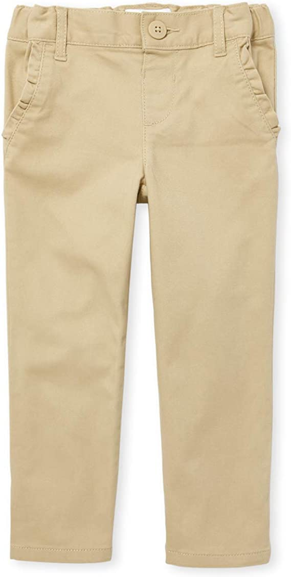 The Childrens Place Girls Slim Size Skinny Uniform Pants