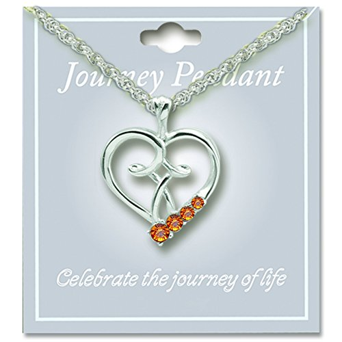 Cathedral Art JP211 November Topaz Birthstone Pendant with 18-Inch Silver Chain