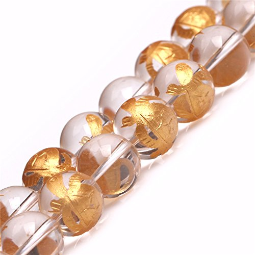 JOE FOREMAN 14mm White Quartz Semi Precious Gemstone Round Xuanwu Tortoise Mala Loose Beads for Jewelry Making DIY Handmade Craft Supplies 15