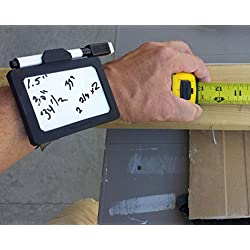 Wear-N-Write Dry Erase Board You Wear On Your Wrist. Wearable Notepad Set Includes Whiteboard, Adjustable Elastic Comfort Wristband, Black Low Odor Medium Point Marker With Eraser. Great Gift For Nurses, Teachers, Pilots, Contractors, Homeowners.