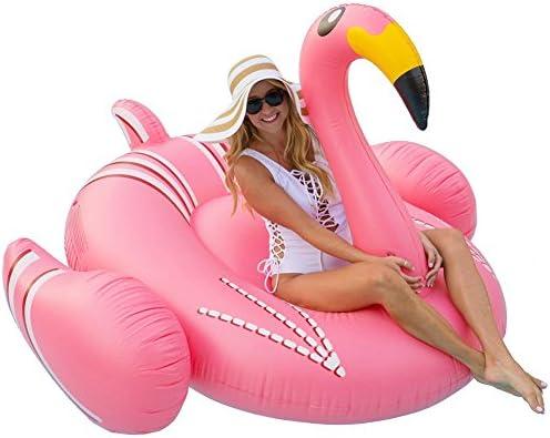 Flotador inflable de la piscina gigante del flamenco para el ...