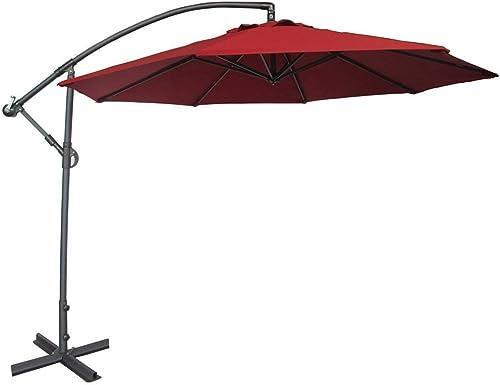 Abba Patio 10-Feet Offset Cantilever Umbrella Outdoor Hanging Patio Umbrella