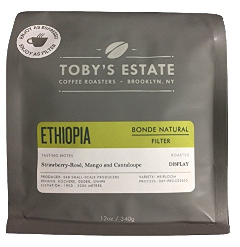 Toby's Estate Single Origin Whole Bean Coffee, 12 ounces (Ethiopia Bonde - Rate Delivery Time Flat Usps