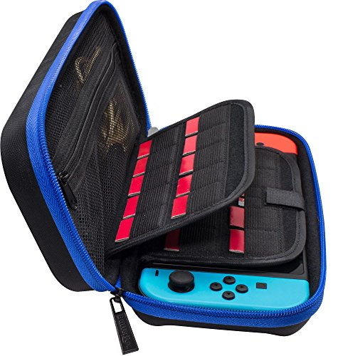 butterfox-switch-hard-carrying-case-with-19-game-cartridge-and-2-micro-sd-card-holders-blue-black