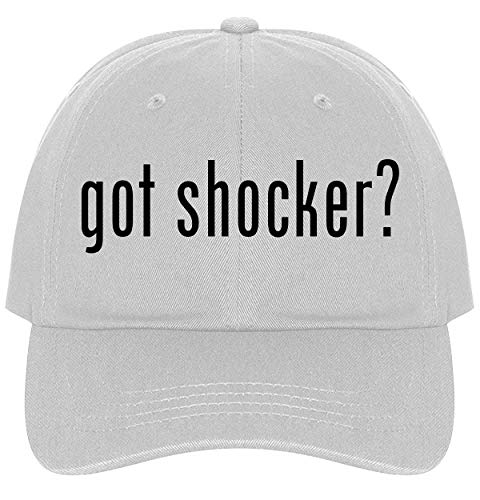 The Town Butler got Shocker? - A Nice Comfortable Adjustable Dad Hat Cap, White