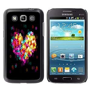 A-type Arte & diseño plástico duro Fundas Cover Cubre Hard Case Cover para Samsung Galaxy Win I8550 (Bokeh colorido del corazón)