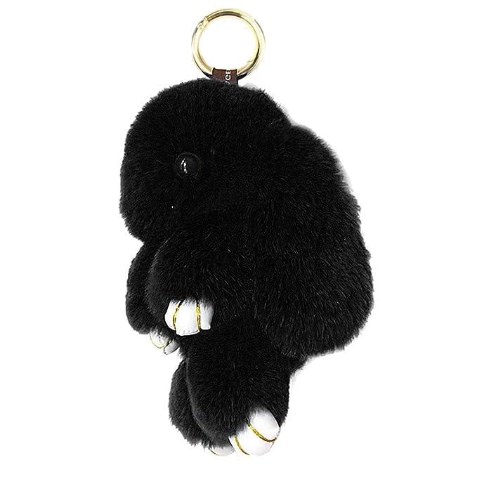 Amazon.com: Llavero de conejo suave con pelota de pompón de ...