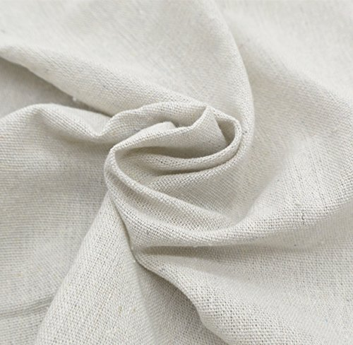 iNee Natural Linen Fabric for Needle Embroidery, Embroidery Fabric Linen 20x 62 inches,(Light Gray)