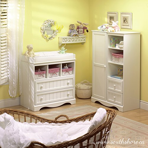 South Shore  Savannah 2-Drawer Changing Table, Pure White by South Shore (Image #5)'