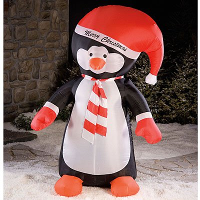 8 airblown inflatable penguin lighted christmas yard art decoration