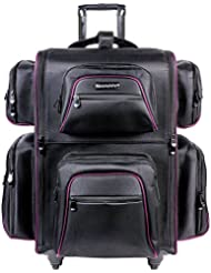 SHANY Total Jetsetter Makeup Artist Soft Travel cosmetics Bag with Multiple Compartment & 10 Free Makeup Organizers...