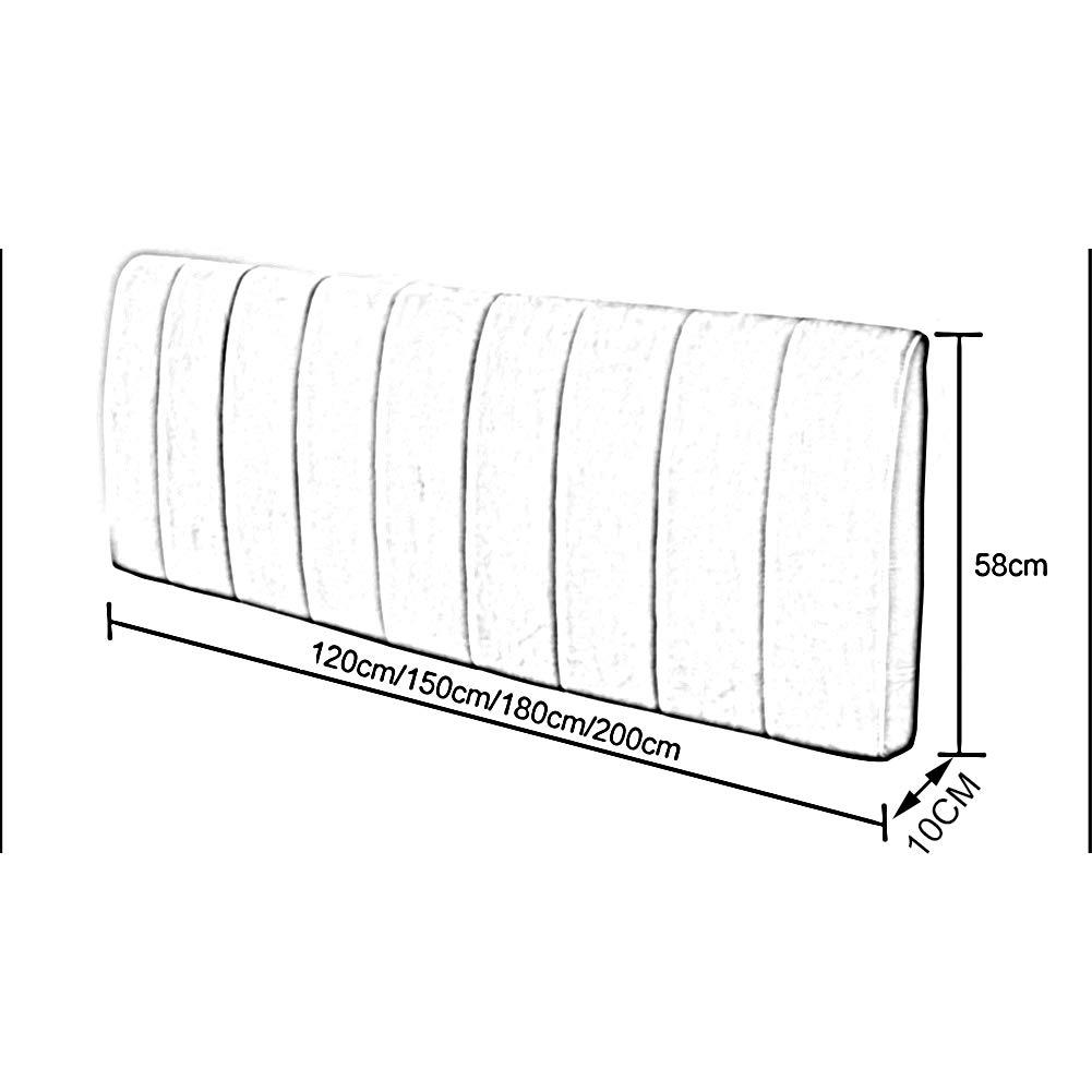 Colore : Gray, Dimensioni : 100x58x10CM 5 Taglie 4 Colori PENGFEI Cuscini Testiera Letto Pad Lombare Capezzale Cuscino Muro Imbottiti Riempimento di Spugna Lavabile