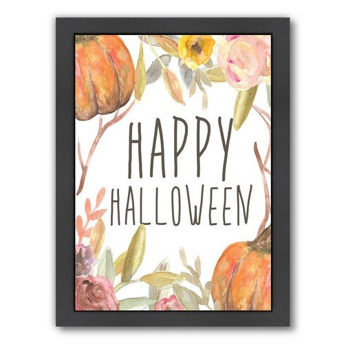 Americanflat Happy Halloween Festive Black Frame Print by Jetty Printables 9