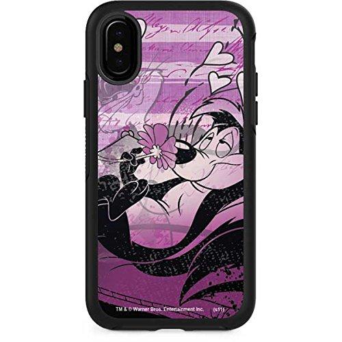 Looney Tunes OtterBox Symmetry iPhone X Skin - Pepe Le Pew Purple Romance | Cartoons X Skinit Skin