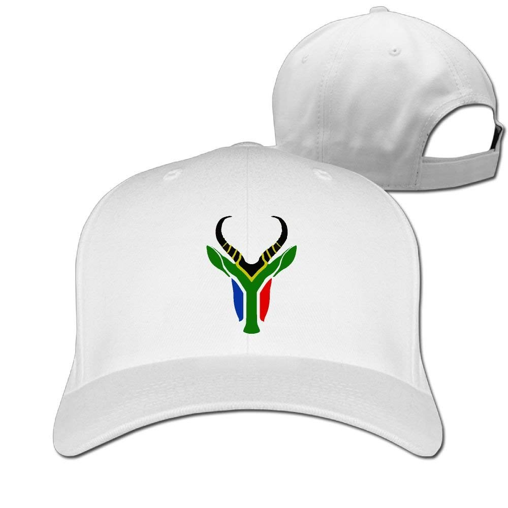 South African Flag Sprinbok Adjustable Back Classic Dad Hat for ...