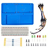 SunFounder Breadboard Kit RAB Holder, 830 Points Solderless Circuit Breadboard, Jumper Wires, LED, Resistors for Arduino Uno R3, Mega 2560 & Raspberry Pi 3 Model B, 2 Model B and 1 Model B+