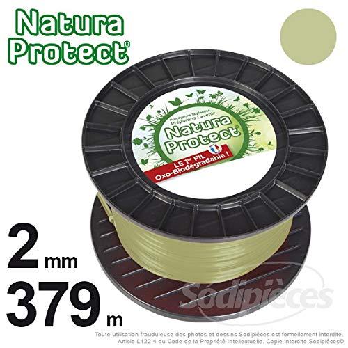 Hilo para cortabordes mm, 379 2 m en bobina Natura Protect redondo ...