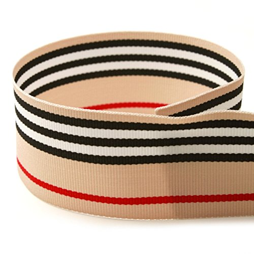 """USA Made 1-1/2"""" Kayla BLVD. Striped Grosgrain Ribbon - 20 Yards (Multiple Widths & Yardages Available) by The Ribbon Factory"""