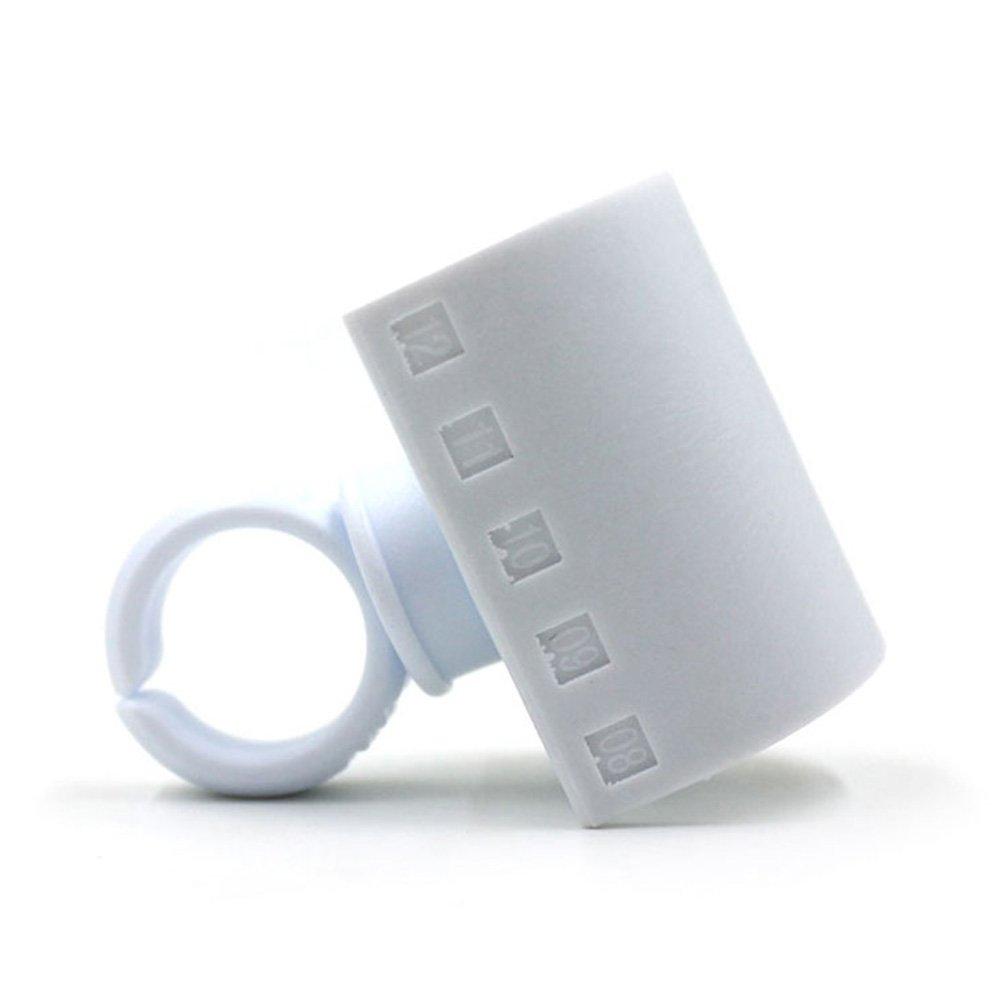 Ciglia colla striscia estensione anello adesivo Eyelash pallet Holder set kit makeup Tool ZQEDY