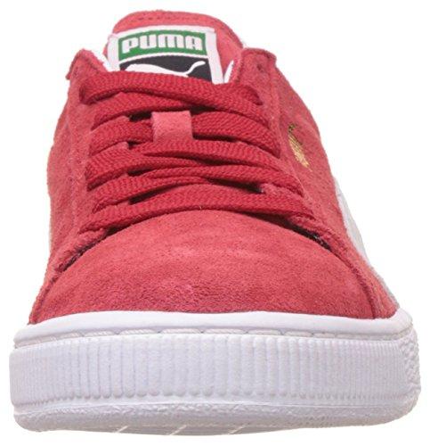 Scarpe Da Ginnastica Classiche Da Donna Puma In Camoscio Rosso Bianco