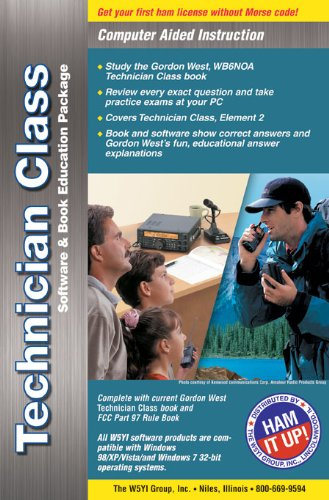 Technician Class 2014-2018 study manual with HamStudy software