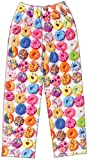 iscream Big Girls Fun Print Plush Pants - Dozens of Donuts, X-Small