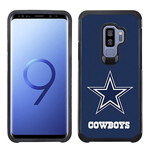Case Phone Cowboys Cell - Prime Brands Group Textured Team Color Cell Phone Case for Samsung Galaxy S9 Plus - NFL Licensed Dallas Cowboys