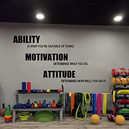 Buy my home gym vinyl motivational fitness quotes wall stickers