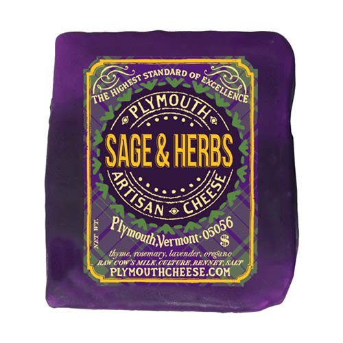 Sage & Herb Cheddar by Plymouth Artisan Cheese (8 ounce) made in New England