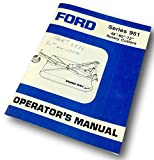 "Ford Series 951 48""-60""-72"" Rotary Cutters Operators Manual Assembly Adjustments"