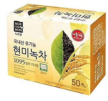 [Nokchawon] NEW USDA Certified Organic Brown Rice Green Tea 50 Tea - With Tea Green Rice Brown