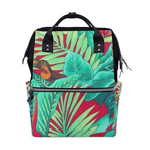 Diaper Bags Tropic Bird Leave Fashion Mummy Backpack Multi Functions Large Capacity Nappy Bag Nursing Bag for Baby Care for Traveling