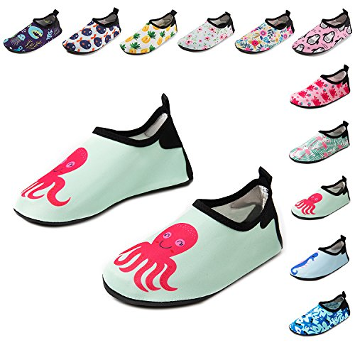 CiiaoLeoo Kids Water Shoes Quick-Dry Swim Barefoot Aqua Socks Shoes for Beach Pool Surfing Dance – DiZiSports Store