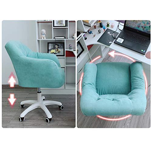 Stol, tjock stoppning för komfort och ergonomisk design, justerbar svängbar rullning med ländrygg stöd för arbetsutrymme