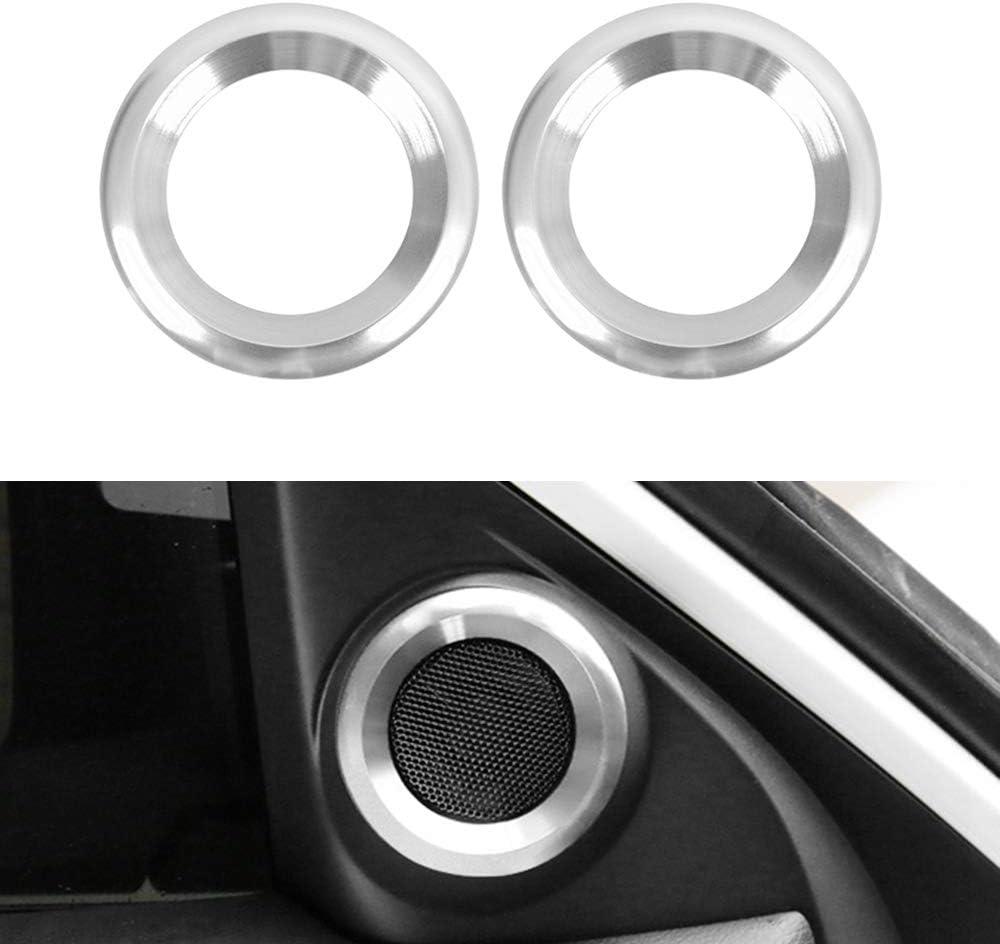 Audio Trim Blue 2pcs//lot Aluminum Car Door Audio Speaker Ring Cover Car Sticker Loudspeaker Decoration Circle Trim for Honda Civic 10th Gen 2016 2017