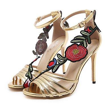 Chaussures 5 Eu37 7 Cn37 Amp; Printemps Bottes Nouveaut Confort Mode Aiguille Or 5 Casual Sandales Soire Talon Similicuir Cuir Pour Us6 Uk4 Party 5 Et amp; Femme La Verni Fschooly fqSdw4f