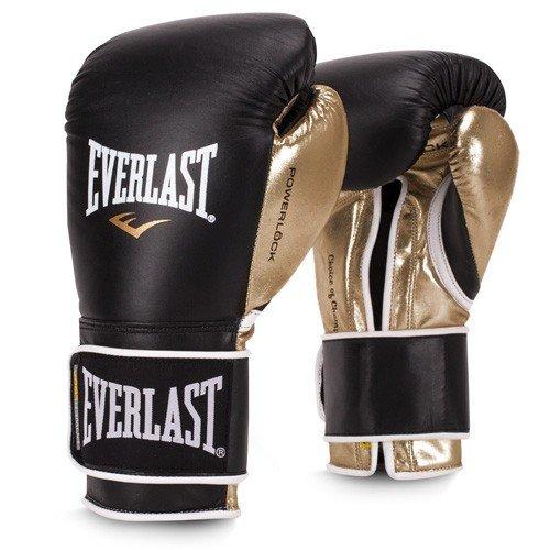 Everlast PowerLock Pro Training Gloves 16oz blk/Gld PowerLock Pro Training - Leather Blk Gloves