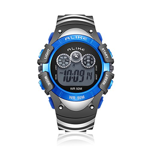 Boys Digital Sport Watch, Kids LED Electronic Waterproof Outdoor Watches Boy Running Cool Fashion Watch