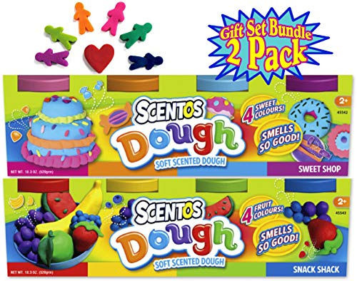 - Schylling Scentos Scented Dough Sweet Shop & Snack Shack 4-Pack of Colors (5oz Each) Gift Set Bundle - 2 Pack (8 Cans & 40oz Total)