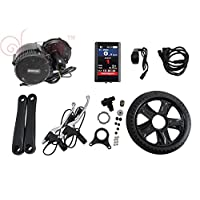Full Color Panel 36V 250W bafang Moteur Central 8Fun bbs01ebike Kits Conversion With Integrated Contrôleur and LCD