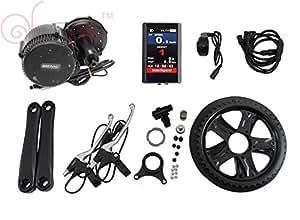 Latest BBS02 48V 750W 8fun Bafang Motor Central Ebike Bicicleta Kit BB: 68con pantalla a color.