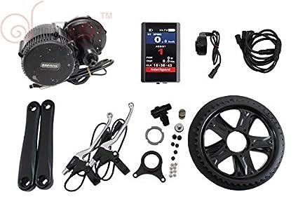 8fun BBS02B 48V 750W Bafang Mid Drive Motor Ebike bicycle Kit BB:68mm with  Colour Display