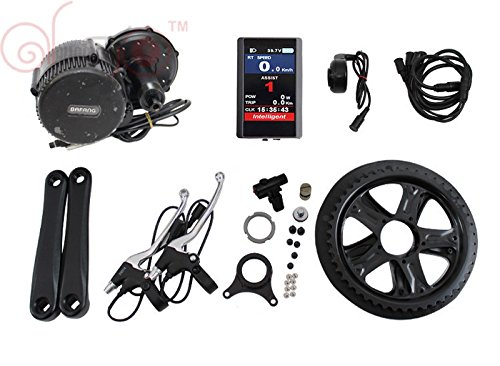 Latest 8Fun Bafang BBS02 48 V 750 W Mid-Drive Motor eBike Bicycle Kit BB: 68 mm with Colour Display