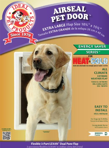 (Ideal Pet Products Air Seal Pet Door with Telescoping Frame, Extra Large, 10.25