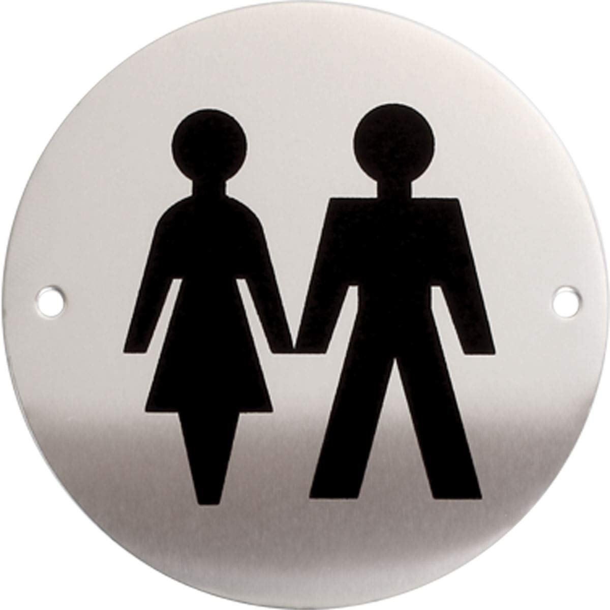Toilet Sign Restrooms Washrooms Aluminium WC sign Disabled Access Washroom Sign Silver with Black Logo Cloakrooms Toilets Lavatories iGadgitz Home U7031 Lavatory Sign Restroom sign