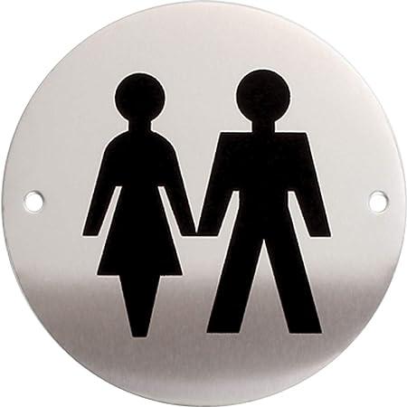 iGadgitz Home U7028 - WC Señal WC, Señalizacion WC Pictograma Baño Aluminio, Adhesivo - Inodoros, Lavabos, Vestuarios, Baños, Cambiador, Aseos - ...