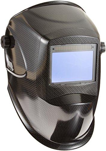 RHINO LARGE VIEW + GRIND Auto Darkening Welding Helmet - CARBON FIBER RH01