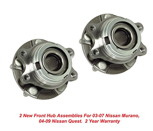 (DTA Front Wheel Bearing & Hub Assemblies NT513310 x2 (Pair) Brand New Fit Nissan Murano)