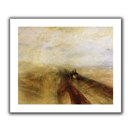 ArtWall 'Rain Steam and Speed, The Great Western Railway' Unwrapped Canvas Art by William Turner, Flat 24 by 28-Inch