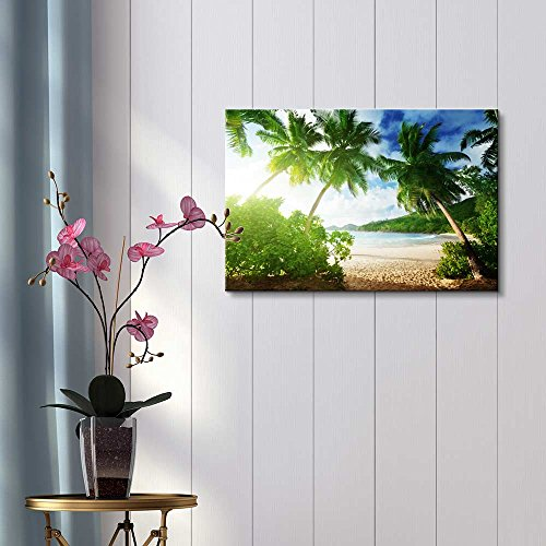 Beautiful Tropical Scenery Landscape Sunset on the Beach Takamaka Mahe Island Seychelles Wall Decor